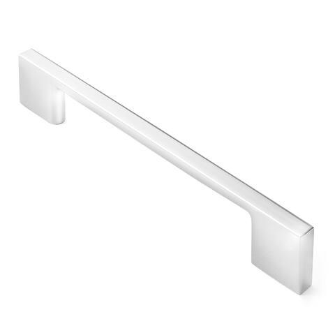 "Modern Polished Chrome 5"" Cabinet Door Handles Pull - 5 Pack"