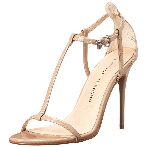 Chinese Laundry Womens Leo Open Toe Ankle Strap Classic Pumps