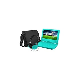 Ematic EPD909TL Ematic EPD909 Portable DVD Player - 9 Display - 640 x 234 - Teal - DVD-R, CD-R - JPEG - DVD Video, Video
