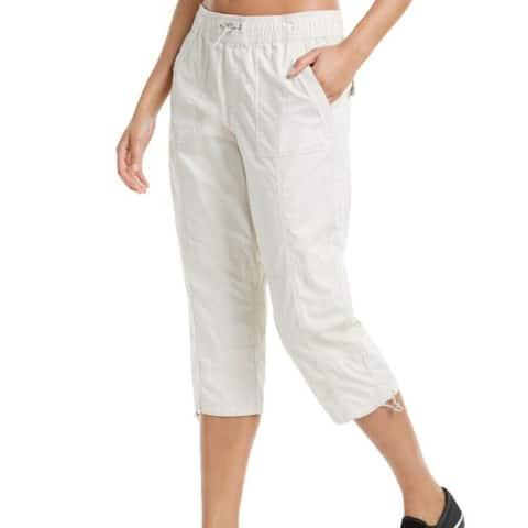 Calvin Klein Women's Casual Pants Beige Size Large L Cargo Capri