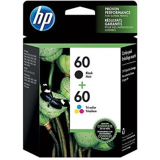 HP 60 Black/60 Color Ink Cartridge, N9H63FN 2/Pack - Multi-color