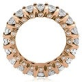 4.00 cttw. 14K Rose Gold Round Diamond Eternity Ring - Thumbnail 1