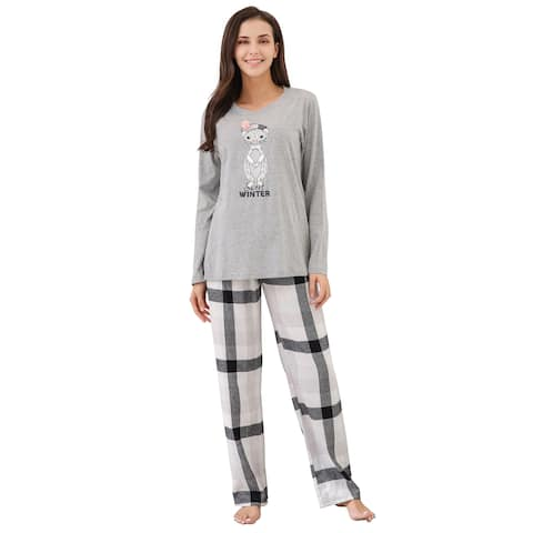 Richie House Women's Soft Cotton Two Piece Sleepwear Set