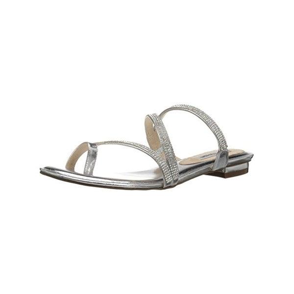 Nina Womens Kaileen Slide Sandals Metallic Embellished