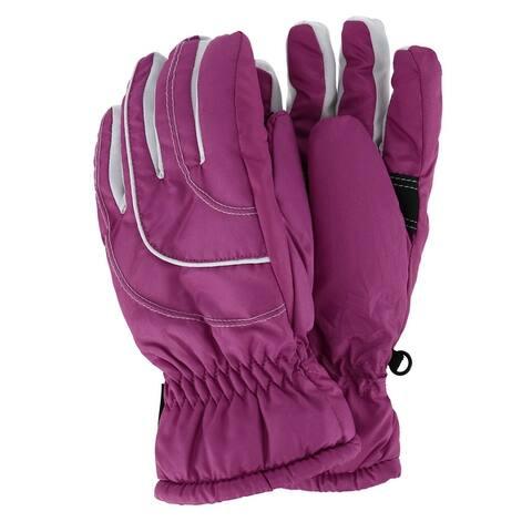Grand Sierra Girl's 7-16 Waterproof Soft Taffeta Ski Glove