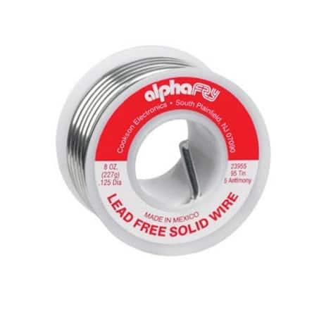 Alpha 23955 Lead-Free Non Electrical Solid Wire Solder, 8 Oz