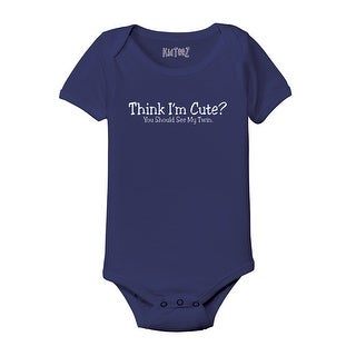 Think I'm Cute? See Twin Cool Funny Infant One Piece