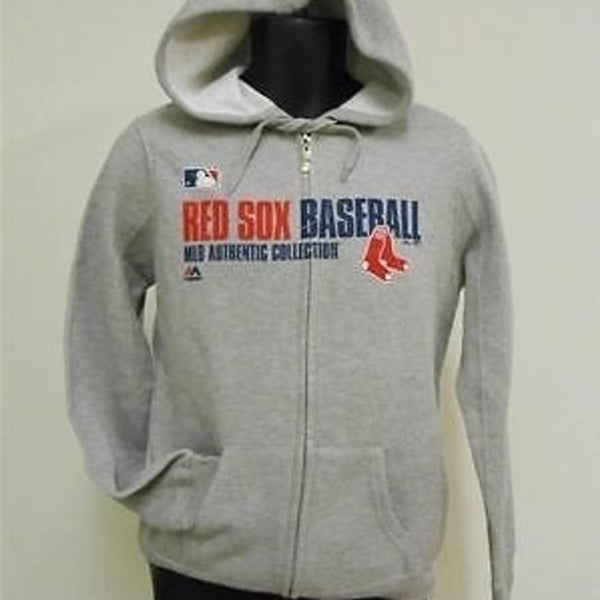 huge selection of bff27 1253b Boston Red Sox Adult Mens Medium M Hoodie-Jacket By Majestic 63Nu