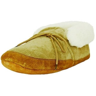 Old Friend Slippers Adult Sheepskin Soft Sole Bootee Chestnut 481192
