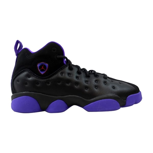 2fb4f98a5d178a Nike Air Jordan Jumpman Team II 2 GG Black Ember Glow-Fierce Purple Grade