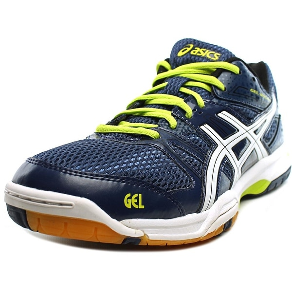 Asics Gel-Rocket 7 Men Round Toe Synthetic Blue Tennis Shoe