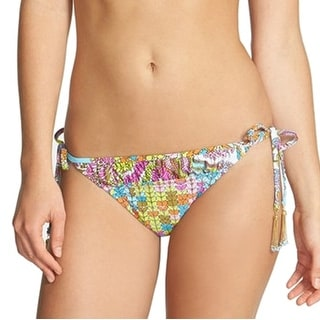 Trina Turk NEW Blue Women's Size 10 Side-Tie Bikini Bottom Swimwear
