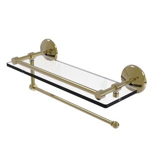 Allied Brass Prestige Monte Carlo Collection Paper Towel Holder with Gallery Glass Shelf