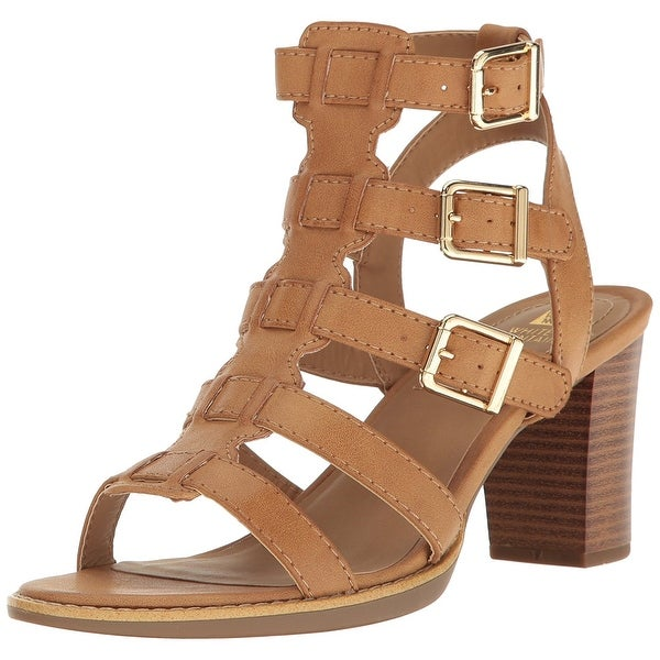 White Mountain Womens Gemmy Leather Open Toe Casual Strappy Sandals