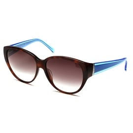 John Galliano Women's Cat Eye Two Tone Sunglasses Tortoise/Blue - Small