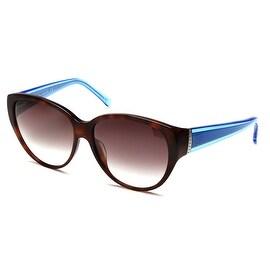 John Galliano Women's Cat Eye Two Tone Sunglasses Tortoise/Blue - Clear - Small