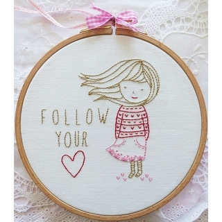 "Follow Your Heart Embroidery Kit-8""X8"""