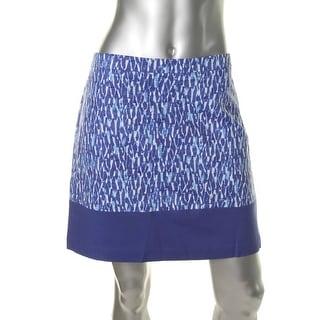 MICHAEL Michael Kors Womens Poplin Printed Mini Skirt