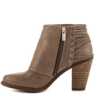 Jessica Simpson Womens Caysy Leather Closed Toe Ankle Fashion Boots Fashion B...