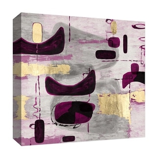 "PTM Images 9-126818  PTM Canvas Collection 12"" x 12"" - ""Golden and Pink Touches"" Giclee Abstract Art Print on Canvas"