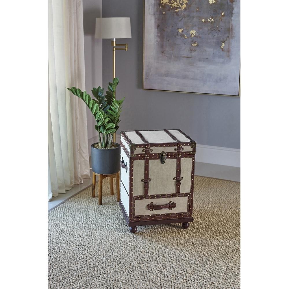 Carbon Loft  Alecto Beige and Bronze 1-drawer Accent Cabinet (Bronze)