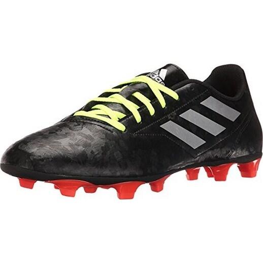 Adidas Mens Conquisto Ii Fg, Cblack,Silvmt,Solred, 7.5