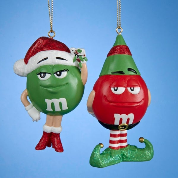 "4"" M & M™ Red as Elf Decorative Novelty Christmas Ornament"