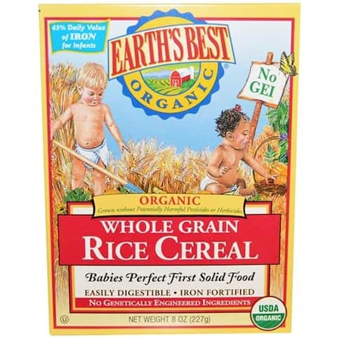 Earth's Best - Organic Whole Grain Rice Cereal ( 12 - 8 OZ)