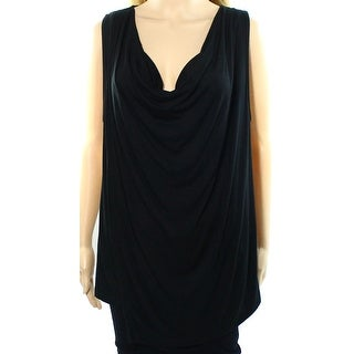 Lauren Ralph Lauren NEW Black Women's Size Large L Cowl Neck Tank Cami