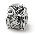 Sterling Silver Reflections Kids Owl Clip Bead (4mm Diameter Hole) - Thumbnail 0