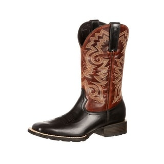 Durango Western Boots Mens Mustang Pull Straps Square Black DDB0081