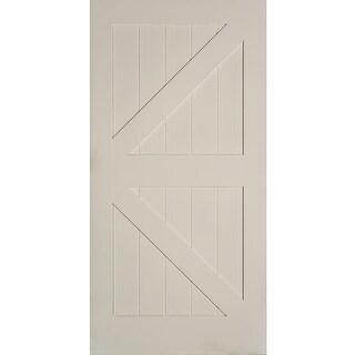 "Trimlite 36701388402K  42"" by 84"" British Brace Interior Barn Door Only - Primed"