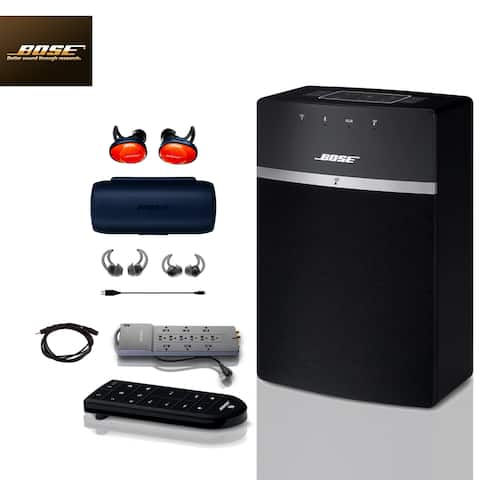 Bose SoundTouch 10 (Black) + FREE SoundSports + 2 pc Acc Bundle