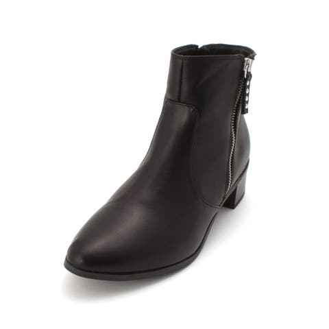 Material Girl Womens Maisy Closed Toe Ankle Fashion Boots