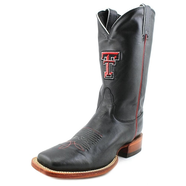 Nocona Texas Tech Stitched Logo Black Women  Square Toe Leather  Western Boot