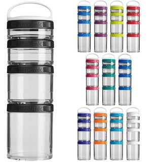 Blender Bottle GoStak Starter 4Pak Twist n' Lock Storage Jars (Option: White - Food Storage)