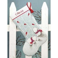"Snow Bears Stocking Counted Cross Stitch Kit-16"" Long 14 Count"
