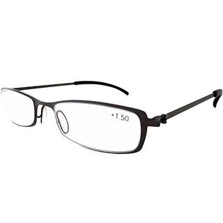 Eyekepper Stainless Steel Frame Reading Glasses Gunmetal +2.5 - +2.75
