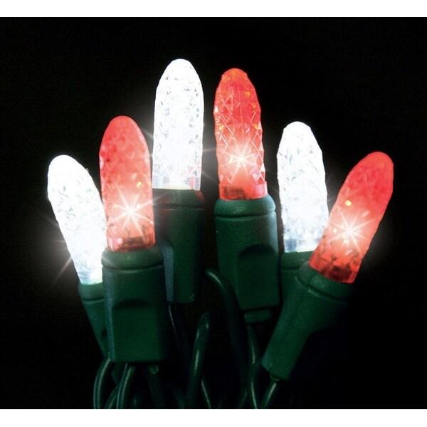Holiday Bright Lights LEDBX-M8NTT-CC M8 LED Christmas Trunk Net Light Set, Red/White