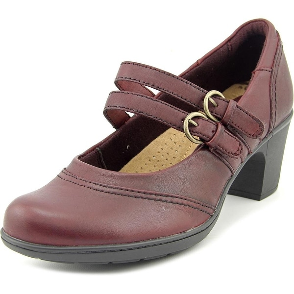 Earth Origins Bobby Women  Round Toe Leather Burgundy Mary Janes