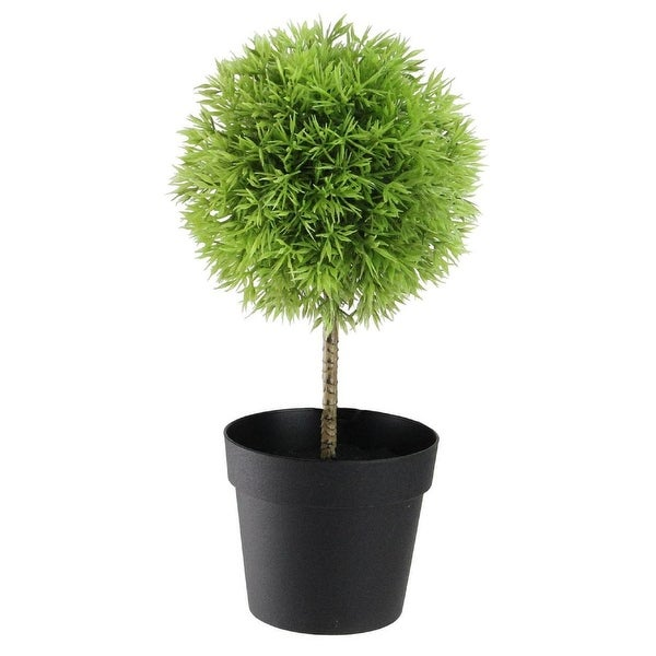 """Potted Artificial Christmas Tree: Shop 9.75"""" Potted Two-Tone Grass Ball Topiary Artificial"""