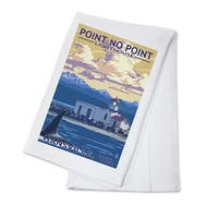 Hansville WA Point No Point Lighthouse LP Artwork (100% Cotton Towel Absorbent)