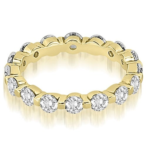 1.25 cttw. 14K Yellow Gold Round Diamond Eternity Ring