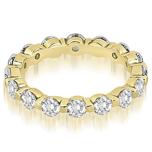 2.40 cttw. 14K Yellow Gold Round Diamond Eternity Ring