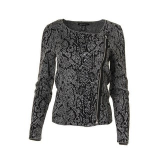 Kenneth Cole New York Womens Shimmer Long Sleeves Pullover Sweater - M