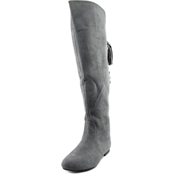 G.C. Shoes Jolie Round Toe Synthetic Over the Knee Boot