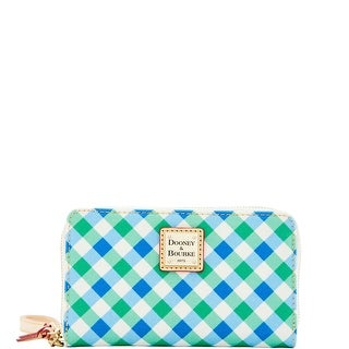 Dooney & Bourke Elsie Zip Around Phone Wristlet (Introduced by Dooney & Bourke at $108 in Apr 2016) - Blue Green