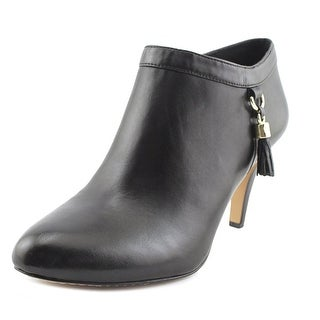 Vince Camuto Vecka Women Round Toe Leather Black Bootie