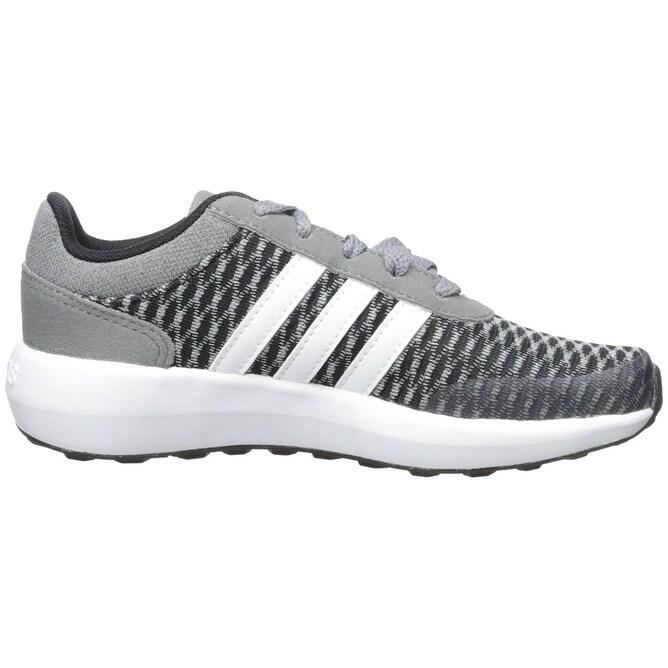 Shop adidas NEO Boys' Cloudfoam Race K Running Shoe, Black