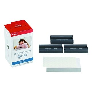 """Canon Computer Systems 3115B001 Kp-108In 4"""" X 6"""" Colour Photo Paper Ink Cassette"""
